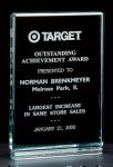 Classic Series 1 Thick Free-standing Acrylic Award. Achievement Awards