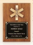 American Walnut Plaque with Emergency Medical Casting Achievement Awards