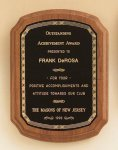 American Walnut Plaque with Braided Border Achievement Awards