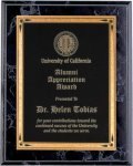 Black Marble Finish Recognition Plaque Achievement Awards