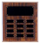 Perpetual Plaque with 12 Plates Achievement Awards