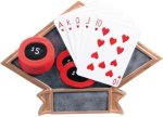 Poker - Diamond Plate Resin Trophy All Trophy Awards