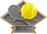 Tennis - Diamond Plate Resin Trophy All Trophy Awards