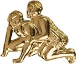 Gold Wrestling Metal Chenille Letter Insignia All Trophy Awards