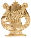 Gold Band Metal Chenille Letter Insignia All Trophy Awards