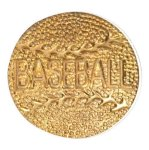 Gold Baseball Metal Chenille Letter Insignia All Trophy Awards