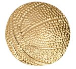 Gold Basketball Metal Chenille Letter Insignia All Trophy Awards