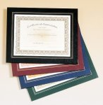 Leatherette Frame Certificate Holder Baseball Trophy Awards