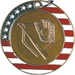 Baseball - Stars & Stripes Medallion Baseball Trophy Awards