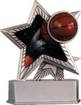 Basketball - Silver Star Motion Resin Series Basketball Trophy Awards