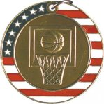 Basketball - Stars & Stripes Medallion Basketball Trophy Awards