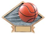 Basketball Diamond Resin Plate Basketball Trophy Awards
