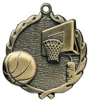 Wreath Basketball Medals Basketball Trophy Awards