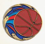 Color Star Basketball Medals Basketball Trophy Awards