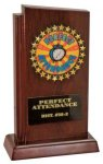 High Gloss Mahogany Finish Trophy Billboard Stand-up Plaque Trophies