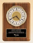 American Walnut Vertical Wall Clock. Boss Gift Awards