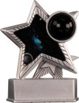 Bowling - Silver Star Motion Resin Trophy Bowling Trophy Awards