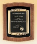 American Walnut Frame Plaque with Antique Bronze Frame Cast Relief Plaques