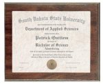 Cherry Finish Photo/Certificate Frame Plaque Certificate Holders