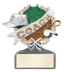 Coach Multi Color Sport Resin Figure Coach Trophy Awards