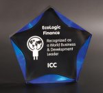 Black/Blue Luminary Star Acrylic Award Colored Acrylic Awards
