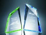 Faceted Mountain Cut Acrylic Award Colored Acrylic Awards