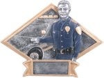 Police Officer - Diamond Plate Resin Trophy Diamond Awards