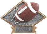 Football - Diamond Plate Resin Trophy Diamond Awards