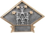 Cheerleading - Diamond Plate Resin Trophy Diamond Plate Resin Trophies