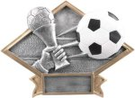 Soccer - Diamond Plate Resin Trophy Diamond Plate Resin Trophies
