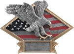 Eagle - Diamond Plate Resin Trophy Eagle Plaques