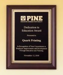 Cherry Finish Plaque Employee Awards