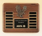 Eagle American Walnut Perpetual Plaque Employee Awards