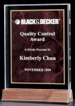 Acrylic Award with a Ruby Marble Center Employee Awards