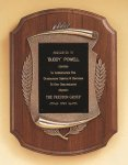 American Walnut Plaque with Antique Bronze Frame Employee Awards