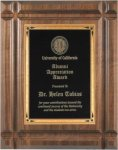 Walnut Recognition Plaque Groove Edge Employee Awards