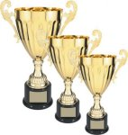 Gold Metal Loving Cup Trophy Employee Awards
