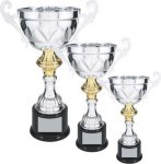 Silver Metal Loving Cup with Gold Accent Employee Awards
