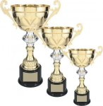 Gold Metal Loving Cup with Silver Accent Employee Awards