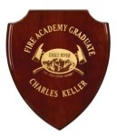 Rosewood Piano Finish Shield Recognition Plaque Employee Awards