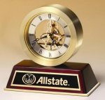 Rosewood Desk Clock Executive Gift Awards