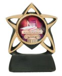 Star Resin Mylar Holder Football Trophy Awards