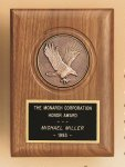 American Walnut Eagle Casting Plaque Golf Awards