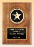 American Walnut Star Plaque Golf Awards