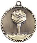 High Relief Medallion - Golf Golf Awards