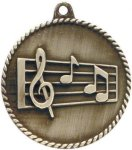 High Relief Medallion - Music High Relief Medallion Awards