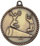 High Relief Medallion - Cheerleading High Relief Medallion Awards