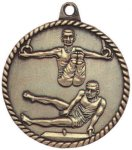 High Relief Medallion - Male Gymnastics High Relief Medallion Awards
