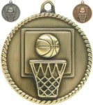 High Relief Medallion - Basketball High Relief Medallion Awards
