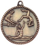 High Relief Medallion - Female Gymnastics High Relief Medallion Awards